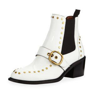 Coach Nora Chelsea Bootie with Studs White Size 5